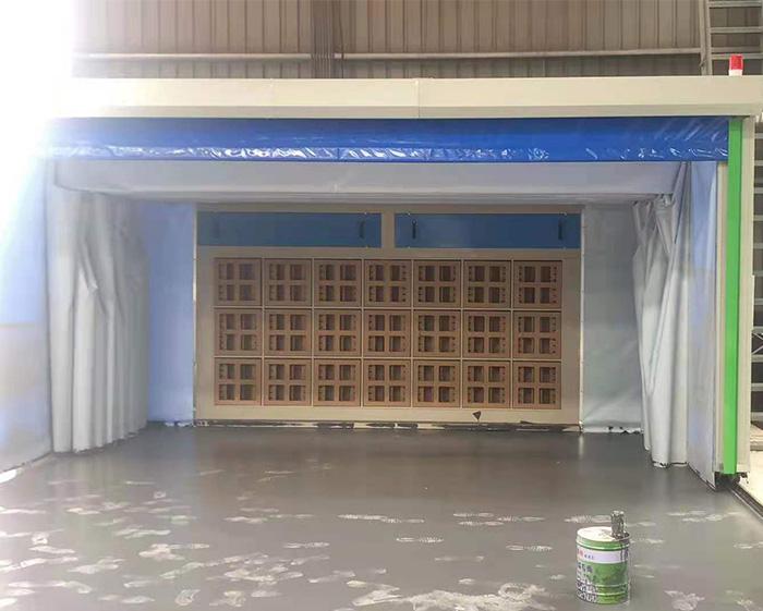 户外伸缩式喷漆房